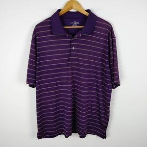 🦃 Grand Slam Gold Strip Purple Polo